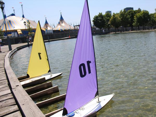 Remote-controlled sailboats